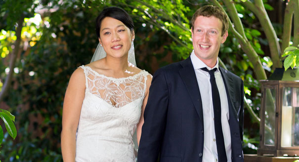 Mark Zuckerberg with his Wife