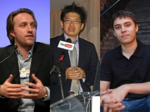 Steve Chen, Jawed Karim , and Chad Hurley