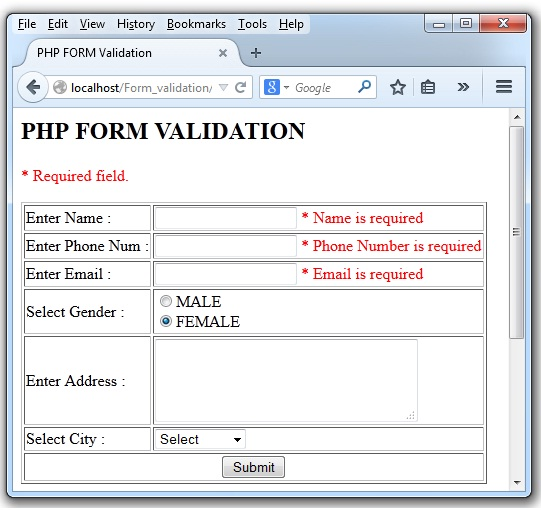 PHP-Form-Validation