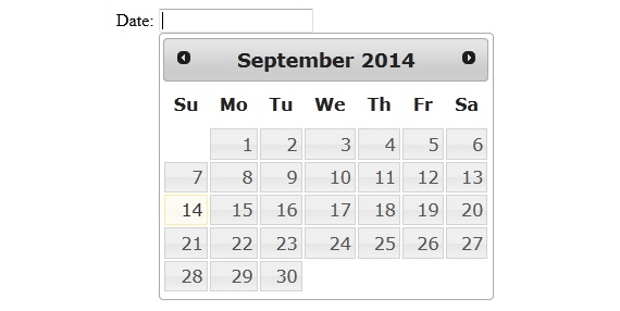JQuery DatePicker1
