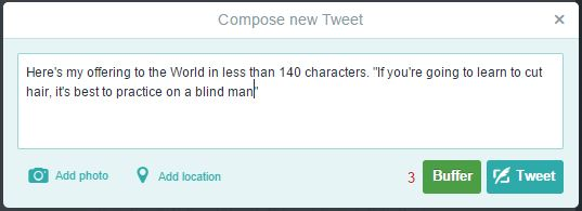 Your tweet may have 140 characters, now excluding photos and links4