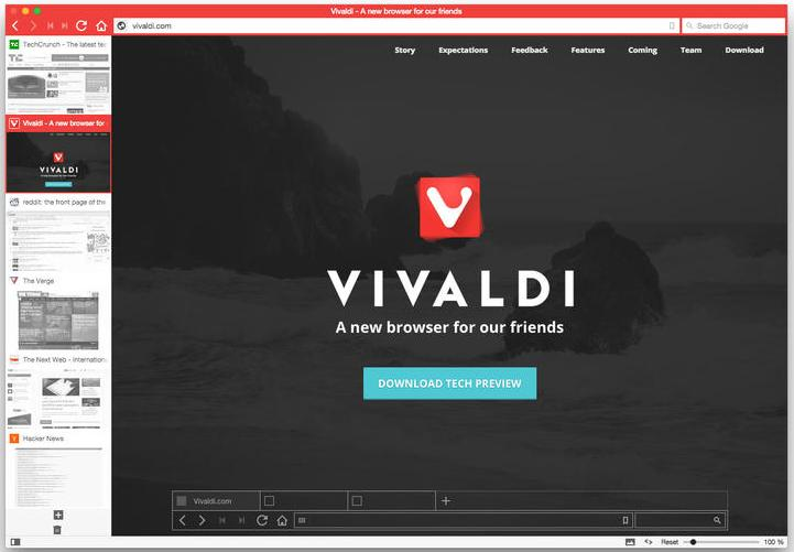 Vivaldi vivaldi web browser interview Browser info