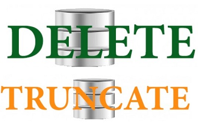 Difference between DELETE and TRUNCATE Command