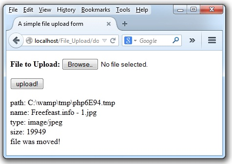 PHP File Upload