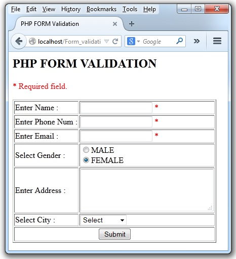PHP_Form-Validation
