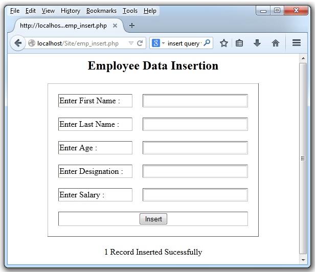 PHP Insert Data