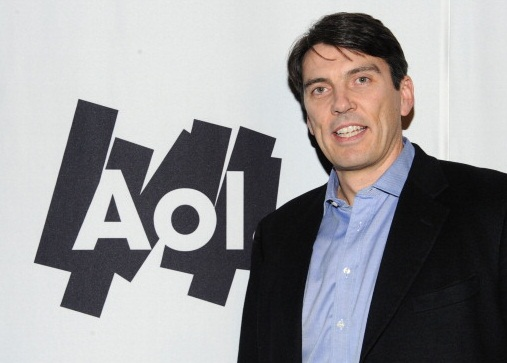 DALLAS, TX - FEBRUARY 05:  Chairman and CEO of  Aol Tim Armstrong poses with AOL at the Maxim Party Powered by Motorola Xoom at Centennial Hall at Fair Park on February 5, 2011 in Dallas, Texas.  (Photo by Michael Kovac/Getty Images for AOL)